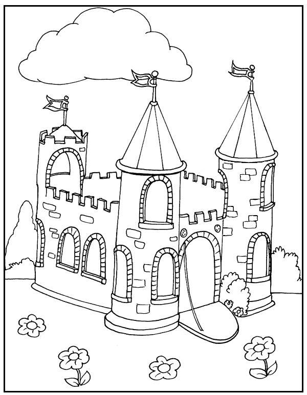 Castle Coloring Pages Crafts