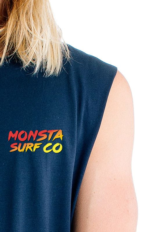 Mens 80's Muscle Tank Navy