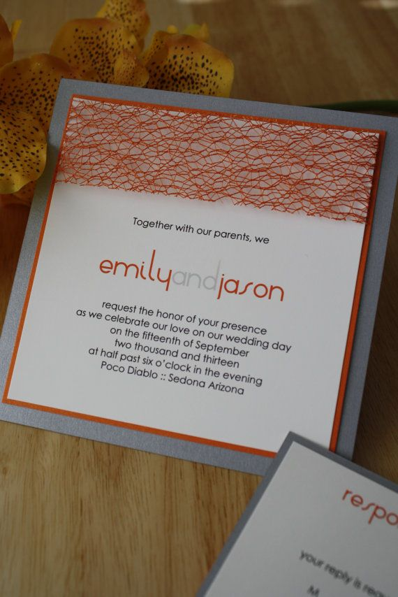 Modernly Rustic Orange and Silver Pewter Wedding by idobliss