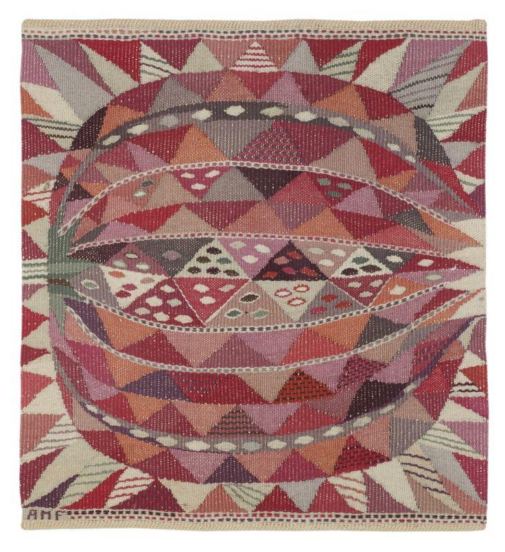 Ann-Mari Forsberg (Sweden, 1916-1992) tapestry for Märta Måås-Fjetterström. Sold Wright Auction 11/14/13; estimate $1,000-1,500/result $3,302.