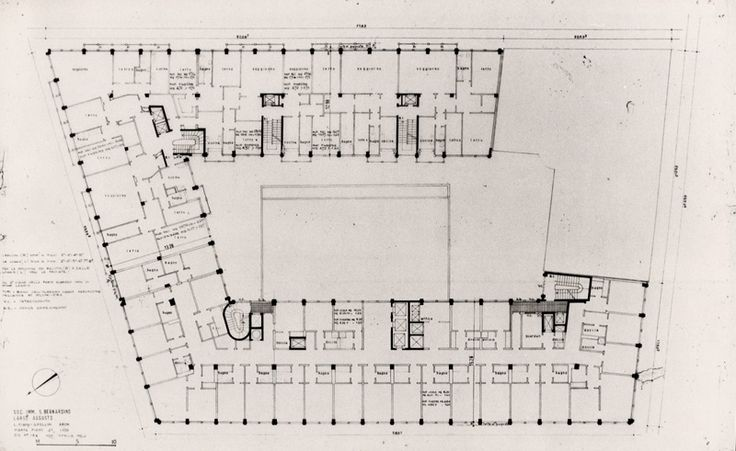 Conosciuto Edificio per albergo e abitazioni 1961 - 1965 /Luigi Figini, Gino  LD09
