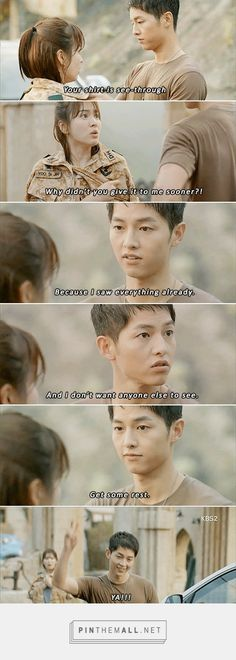 they are funny scenes in the drama Descendants of the sun