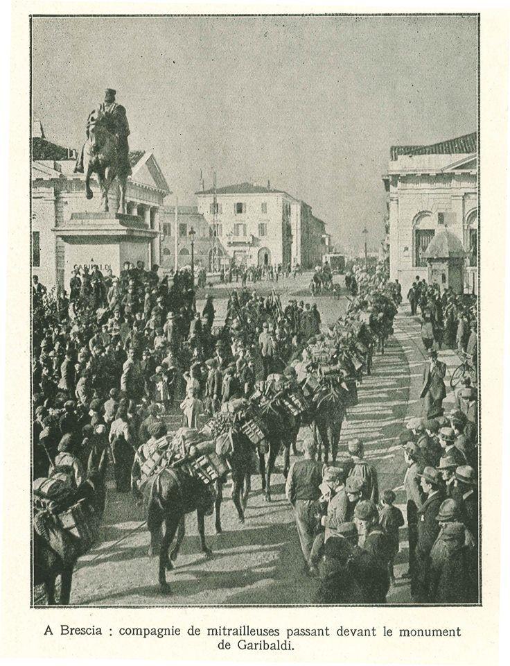 Truppe francesi in Piazzale Garibaldi a Brescia – 1917