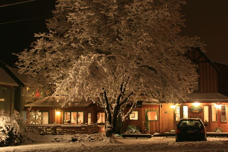 Te Wanaka Lodge came into its own during the recent winter snowfall - just beautiful
