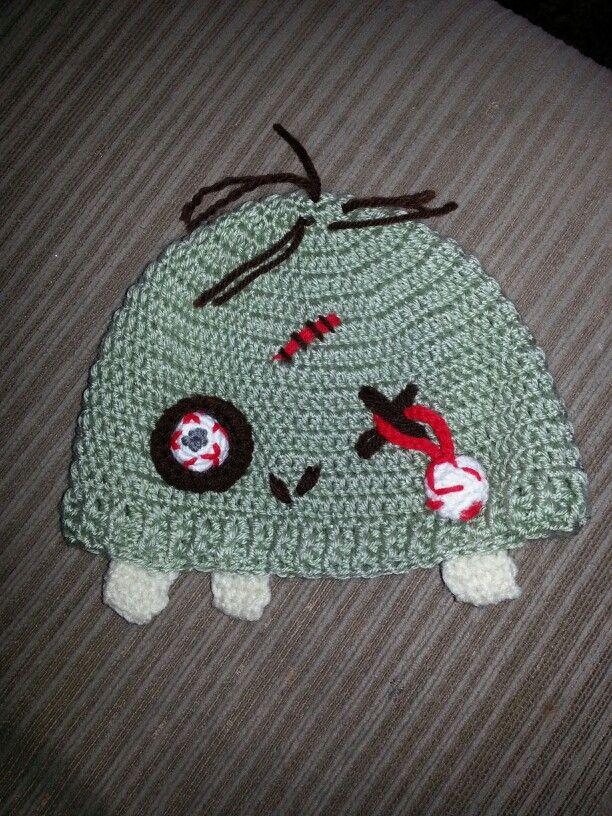Crocheted zombie hat crochet Pinterest