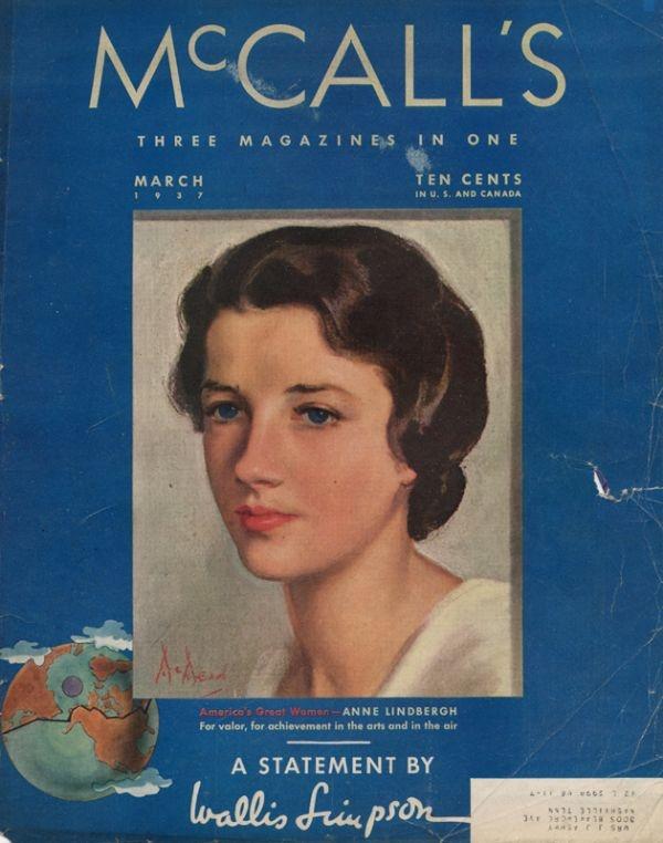 Anne Morrow Lindbergh on McCall's Magazine cover | Anne ...