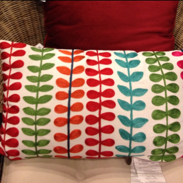 Throw Pillow from Pier One - they had a large assortment of Red & Turquoise! HOME: Playroom ...