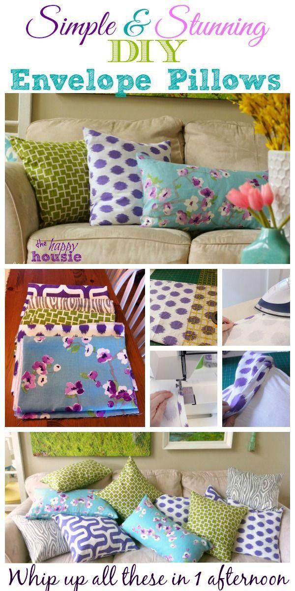 Simple & Stunning DIY Envelope Pillows Tutorial {Freshen Up for Spring