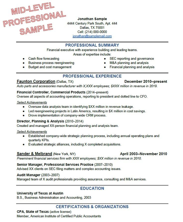 best resume ever example