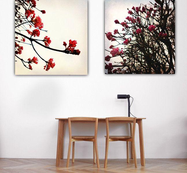 "Drucke auf Leinwand - 2 Set Leinwand ""Sakura "" 40 x 40 cm  - ein Designerstück von Heavensblue-Fotografie bei DaWanda"