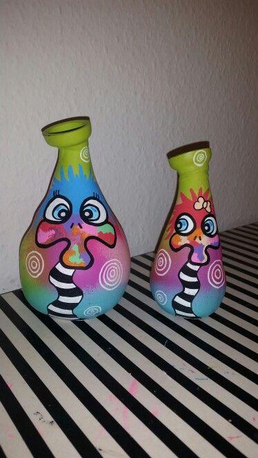 Mini vaser med strudser
