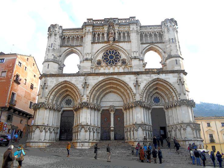 Catedral de Cuenca. la  única de estilo normando en España