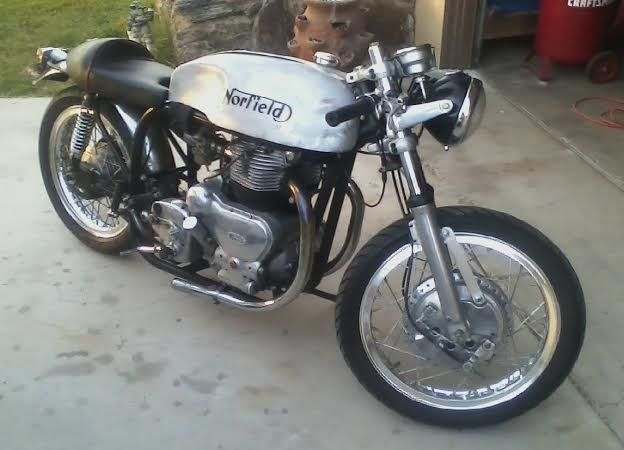 """""""1956 Royal Enfield Super Meteor"""" by -slickfox- in CafeRacers"""