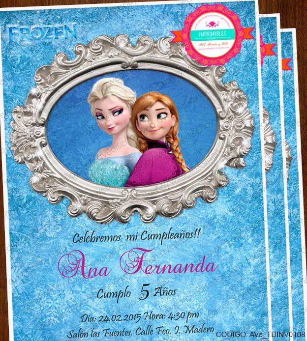 Invitaciones Imprimibles Frozen Ana y Elsa,  disponible para su descarga digital Inmediata! Descarga el diseño, edita los datos de tu evento en Power Point e Imprime todas las invitaciones que necesites en la comodidad de tu hogar, taller u oficina en cualquier impresora hogareña o centro de impresion mas cercano.