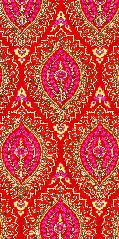 Pink and orange ornament•stencil•template•print•pattern•motif Орнамент•шаблон•трафарет•принт•