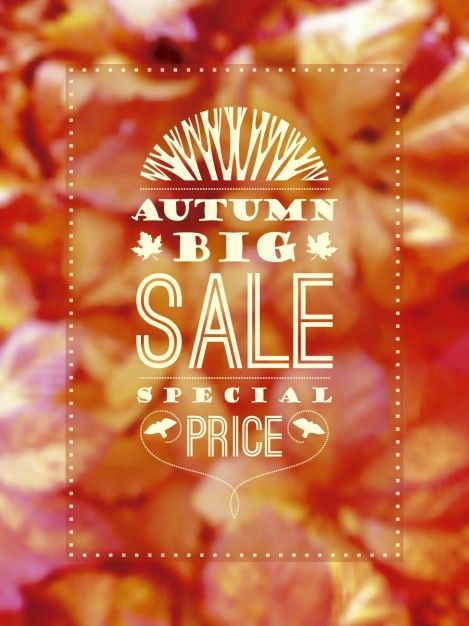 Free vector Autumn sale lettering #24498