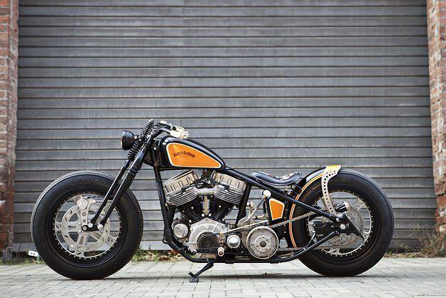 Harley Vintage Custom Bobber (7) #harleyddavidsonpanhead