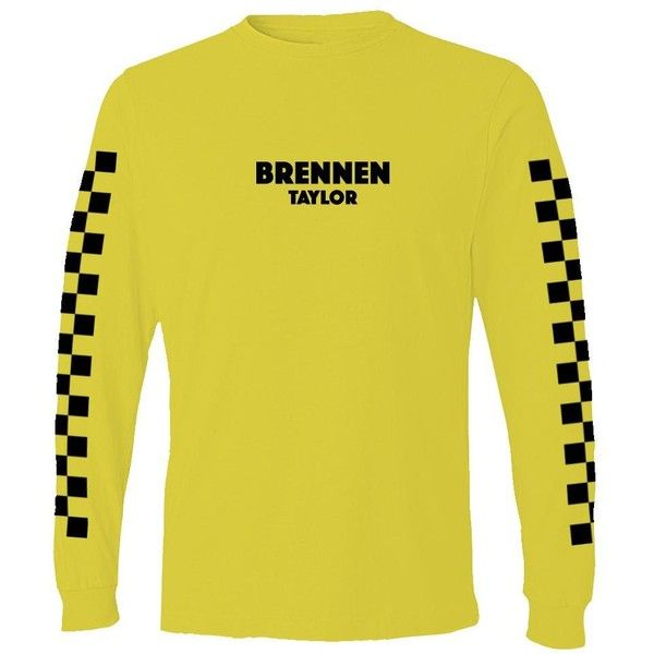 Yellow Brennen Taylor Long Sleeve Shirt ($35) ❤ liked on Polyvore featuring tops, long sleeve shirts, yellow checkered shirt, checked shirt, yellow long sleeve shirt and yellow long sleeve top