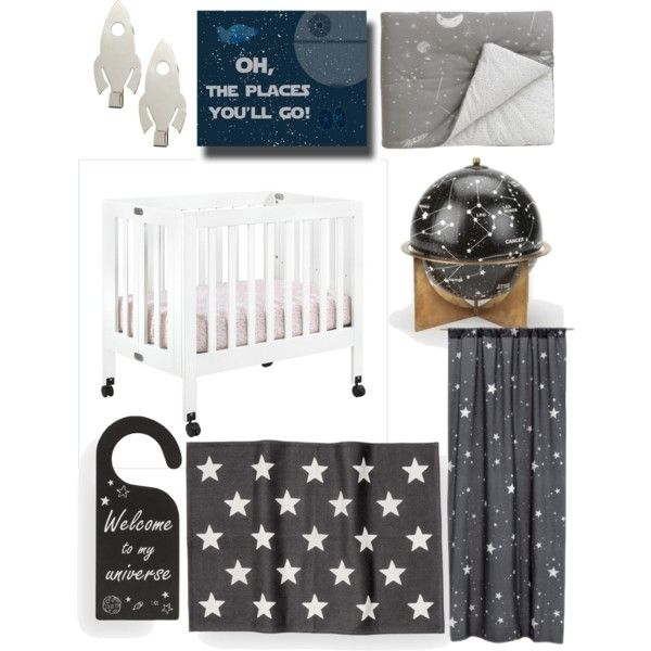 Baby boy galaxy nursery decor
