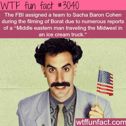 funny facts about the movie Borat - WTF fun facts