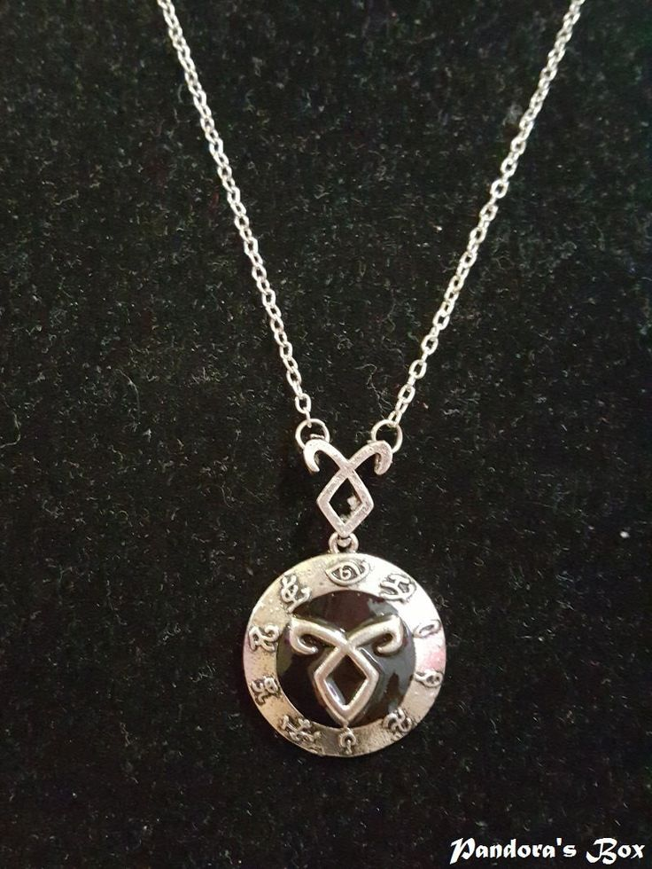 Shadowhunter Rune Pendant Necklace City of Bones The Mortal Instruments Jewelry