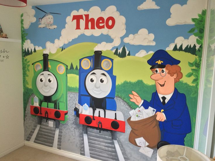 Thomas And Friends Painted Wall Mural Part 22
