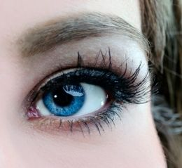 Natural Looking Non Prescription Blue Colored Contacts For