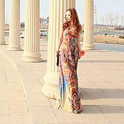 Women's Bohemian Beach Print Maxi Dresses(2) – USD $ 32.89