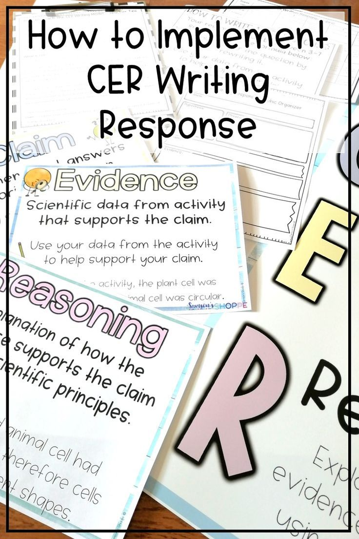 Cer Claim Evidence Reasoning Ideas And Activities To Start
