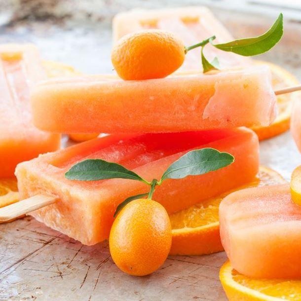 Glace à l'eau à l'orange