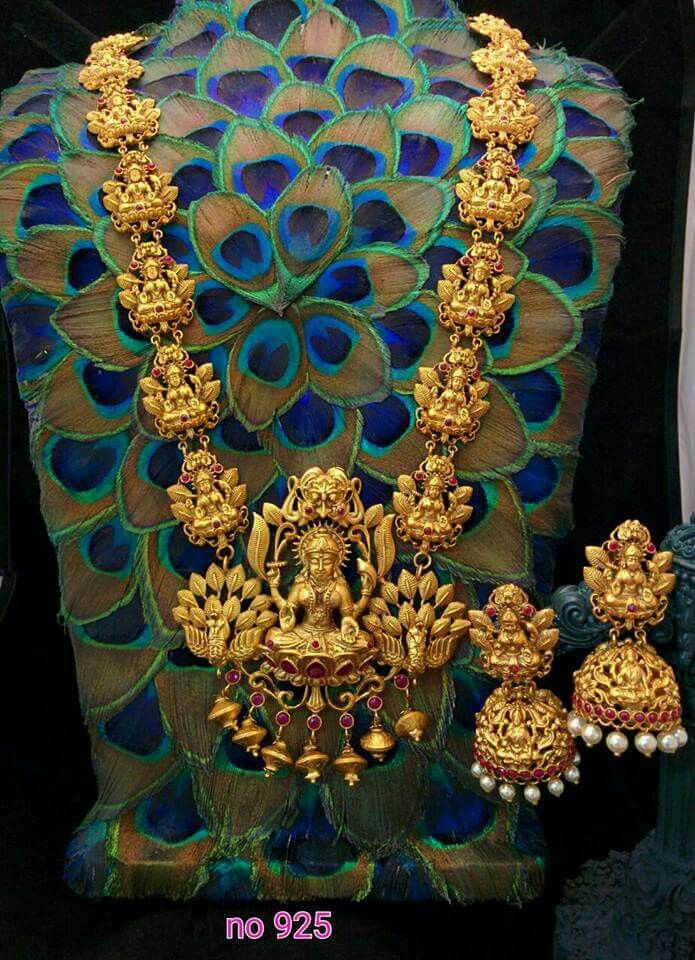 Long haram  Matt finish set   1gm jewellery   Buy online   Neha's jewellery +91 9703870603