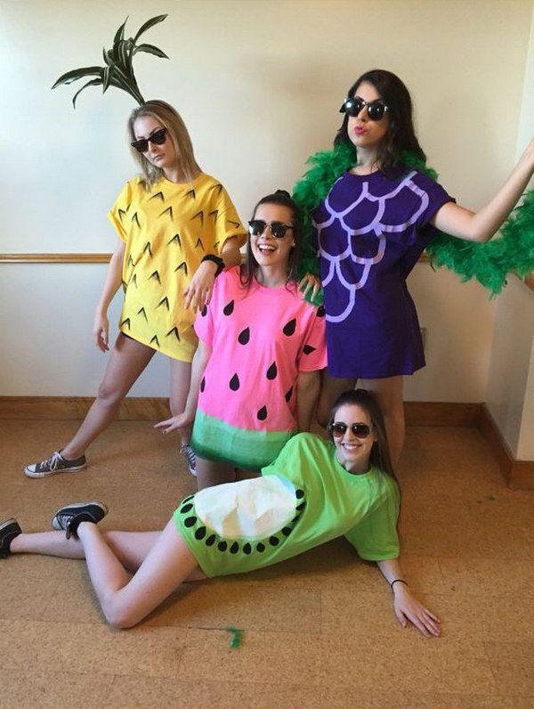 Easy Fruit Costumes for Halloween.                                                                                                                                                                                 Más