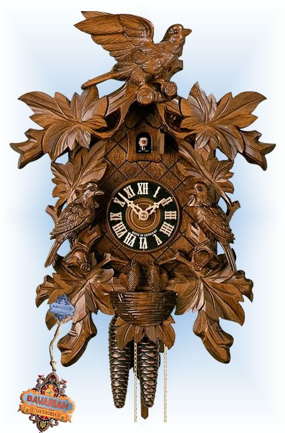 best cuckoo clocks traditional hand carved images on  hones bird nest leaf cuckoo clock 16 bavarian clockworks