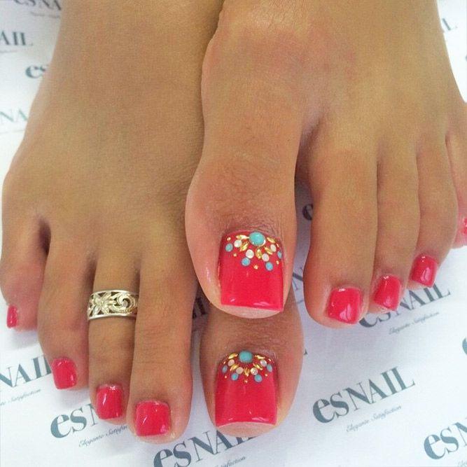 eye catching toe nail art ideas