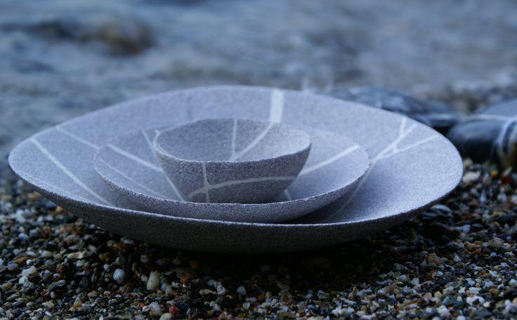 Dish and bowls by Opificio Alfredo Gioventù