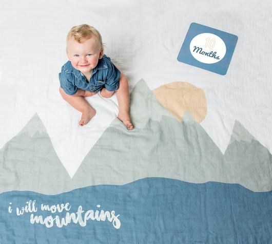 Move Mountains Baby's 1st Year Blankets & Milestone Cards