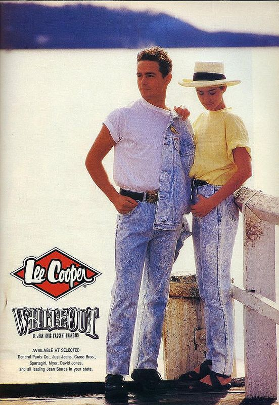 Dolly, October 1987 - Lee Cooper jeans ad