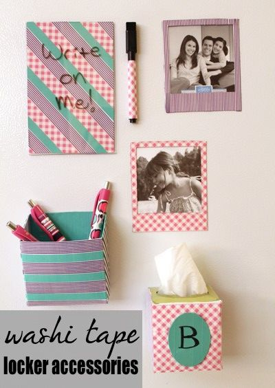 Love this! I really need to update my locker! The magnetic tissue box is a great idea!