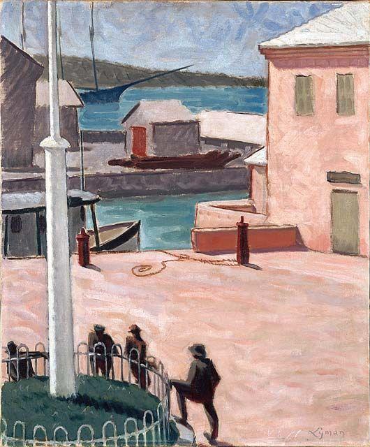 """Landscape, Bermuda,"" John Lyman , ca. 1914, oil on canvas, 21.8 x 18.1"", National Gallery of Canada."