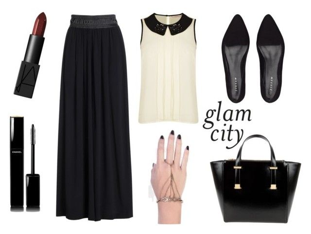 Glam city by tamaraispeople on Polyvore featuring Darling, NIC+ZOE, Jigsaw, Ted Baker, INDIE HAIR, Chanel and NARS Cosmetics