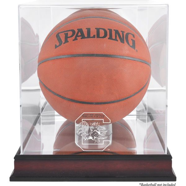 South Carolina Gamecocks Fanatics Authentic Mahogany Antique Finish Basketball Display Case with Mirror Back - $99.99