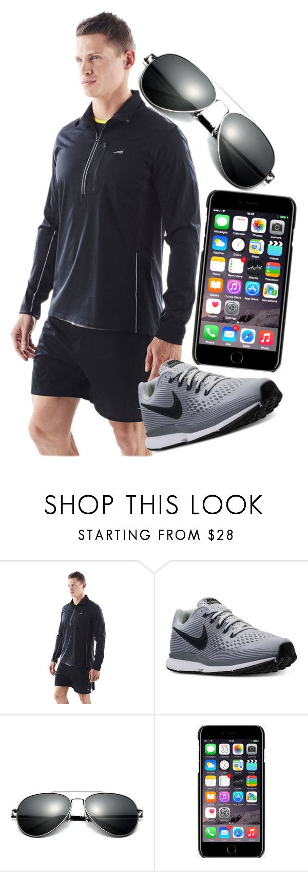 """Just a quick jogging outfit"" by fallin-angel ❤ liked on Polyvore featuring Altra, NIKE, Dolce&Gabbana, men's fashion and menswear"