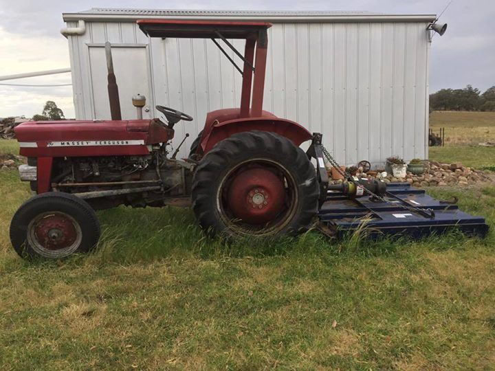 FOR SALE -  135 petrol tractor. Bought second hand in 2001 and has been regularly serviced since. Runs well.  Slasher bought new in 2012. Hasn't had a lot of use. Located at Clarence Town 2321 #rangloo, #bar, #accessories