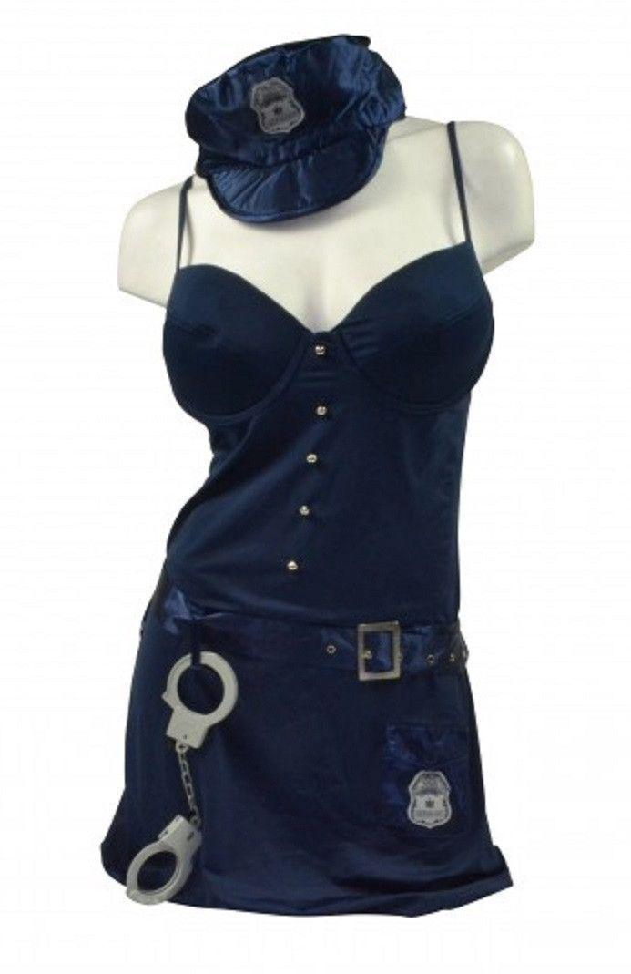 5 Piece Adult Costume - Sexy Cop