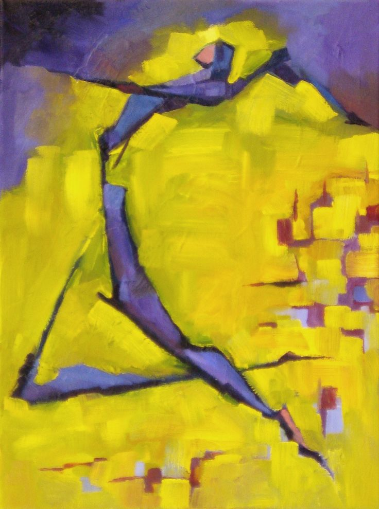 "Acrobat, Tyrone Rogers, 2016, oil on canvas, 12"" x 16""  Dance dancer painting art painter artist"