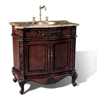 The Art Gallery  Overstock Mable Top inch Single Sink Bathroom Vanity Decorative