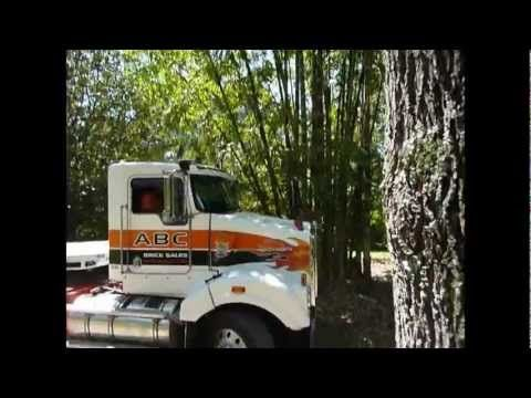 60' Semi Trailer Truck Stuck In Sharp Curve - And Solution!  interesting Video