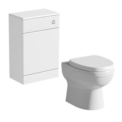 Energy back to wall toilet with Sienna back to wall toilet unit white