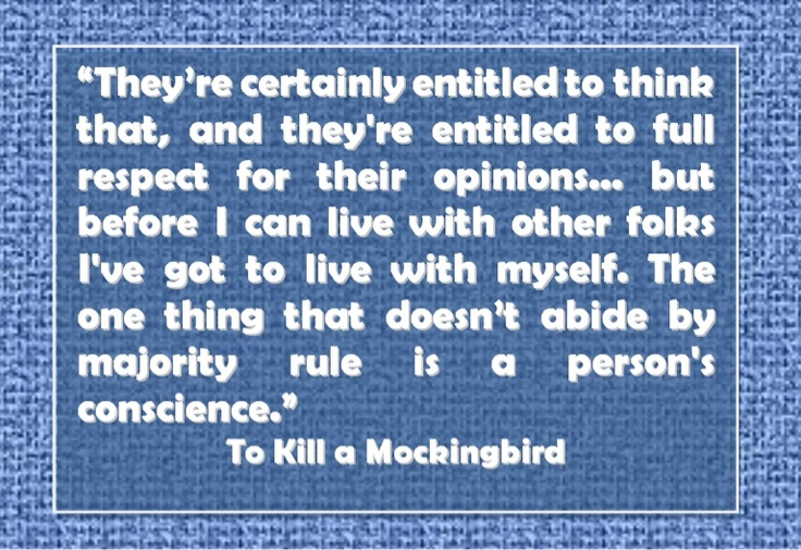 to kill a mockingbird unwritten rules How you dress, talk, eat and even what you allow yourself to feel - these often  unspoken rules of a group are social norms, and many are.