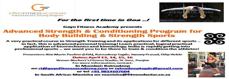 The Professional Fitness Certification course covers topics like theories of strength & fitness, anatomy & physiology, diet management,supplementation & nutrition and many more. So to know more visit us @
